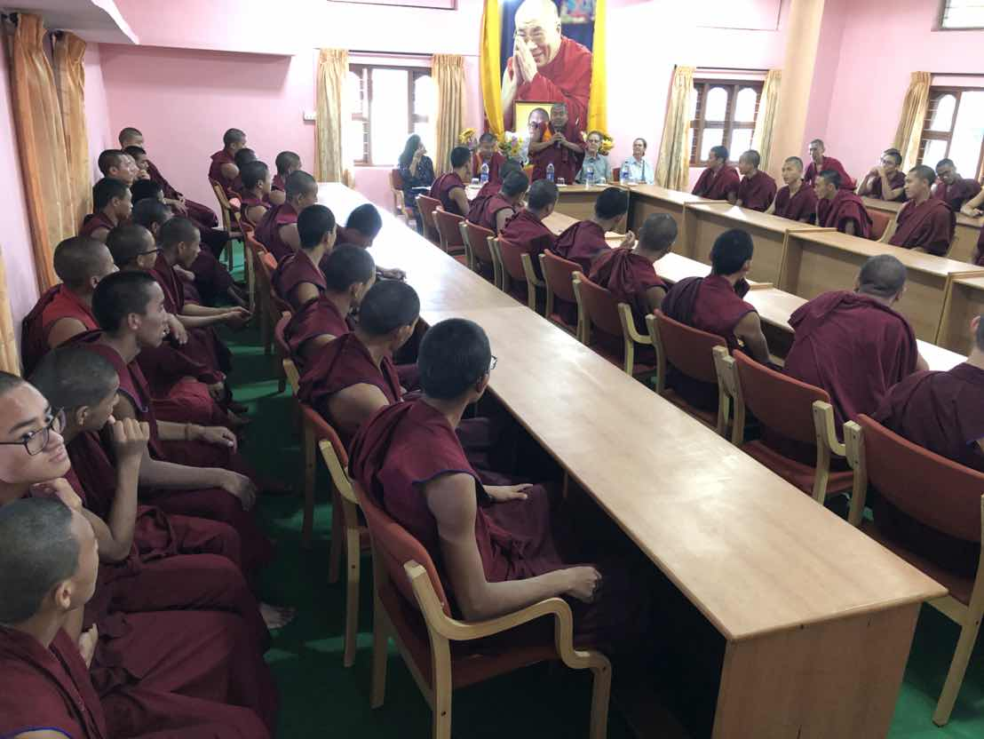 Class IX and X students: listening to the visiting intellectuals.