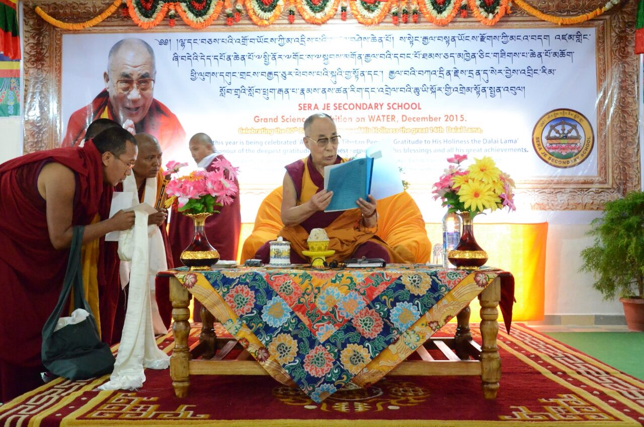 Lecture to the Students and Teachers of SJSS by His Holiness the Dalai lama