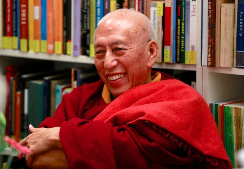 The teachings of His Eminence Kasur Prof. Kyabje Samdhong Rinpoche at Sera Je School.